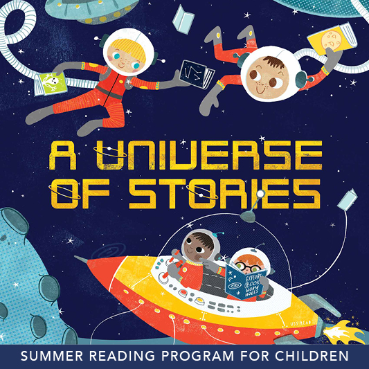 A Universe of Stories (kids SRP poster)